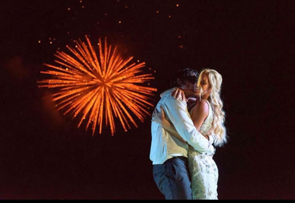 Fireworks in Wedding venue Mexico